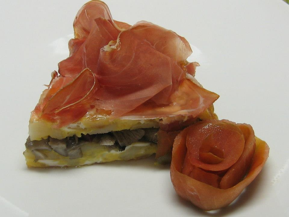 Tortilla de marzuelos con jamon
