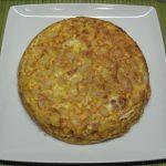 Tortilla española de marzuelos con jamon