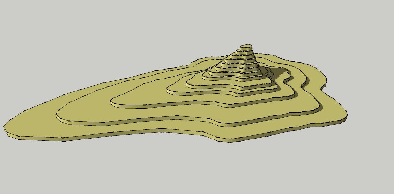 Figura 2 .- CURVAS DE NIVEL 3D