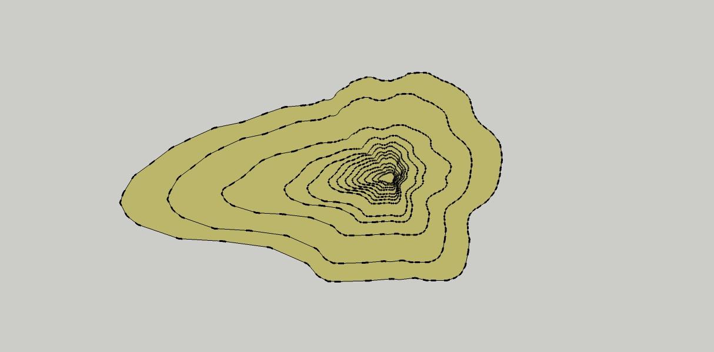 Figura 3.- CURVAS DE NIVEL PLANTA